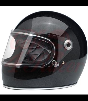 Biltwell Gringo S Helmet Midnight Black Miniflake