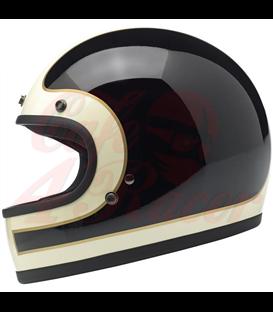 Biltwell Gringo Tracker helma integrálna vintage biela čierna