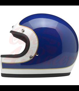 Biltwell Gringo Tracker Helmet Full Face Red White Blue
