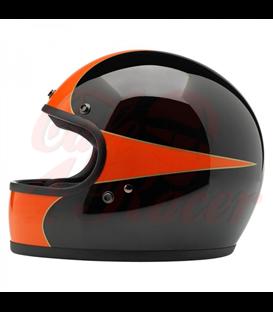 Biltwell Gringo Scallop helma integrálna čierna oranžová