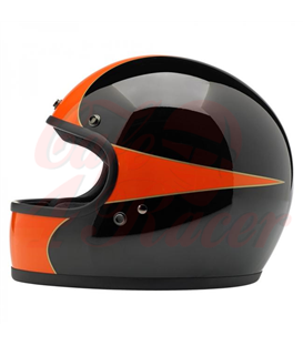 Biltwell Gringo Scallop Helmet Full Face Black Orange