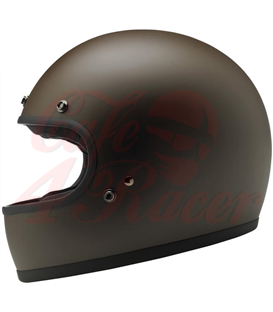 Biltwell Gringo Helmet Full Face Flat Chocolate