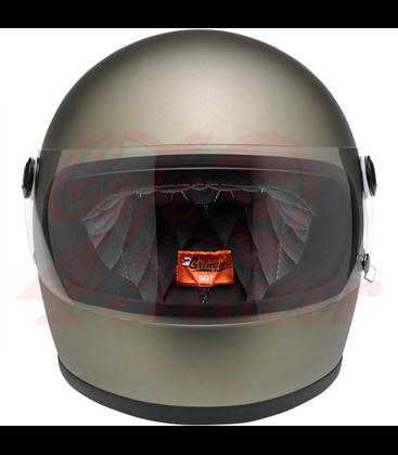 Biltwell Gringo S Helmet Full Face Flat Titanium