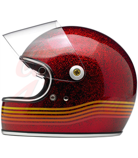 Biltwell Gringo S Spectrum LE Helmet Full Face Wine Red
