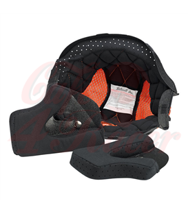 Biltwell Gringo Helmet Liner Black Orange