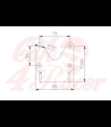 IBEX-Pro license plate holder Universal Typ 1