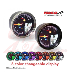 KOSO Digital Multifunction Cockpit, TNT-04 Tachometer chrome ring