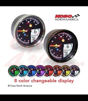 KOSO Digital Multifunction Cockpit, TNT-04 Tachometer chrome ring