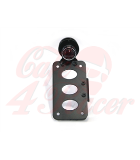 License Plate Side Mount Bracket with brake light