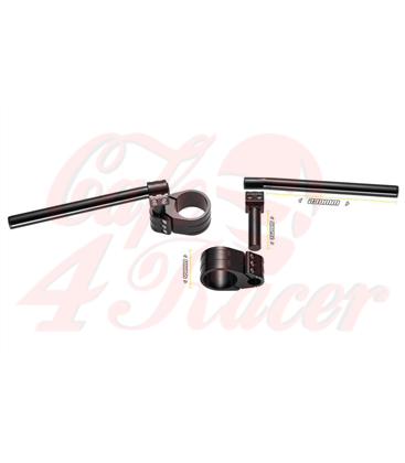 probrake REVO clip-on handlebars, 52 mm, for var. motorcycles