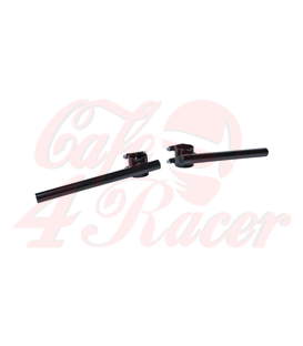 TRW racing-bar clip-on, čierne, 50mm