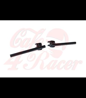 Clip-on Black coated Steel 22mm (7/8 inch) 41mm (1set)