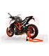 Single arm stand, rear wheel, left, orange