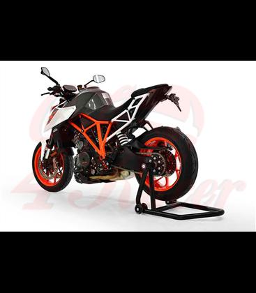 Single arm stand, rear wheel, left, orange