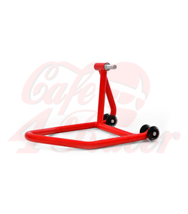Single arm stand, rear wheel, left, red