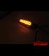 KOSO LED smerovky NUOVO, čierne oranžové skličko