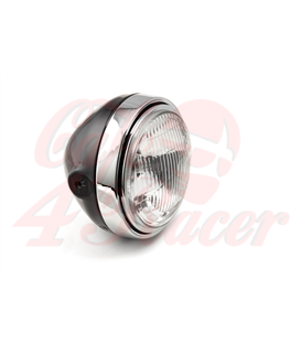LSL Scrambler Head Light, čiierna/chromova