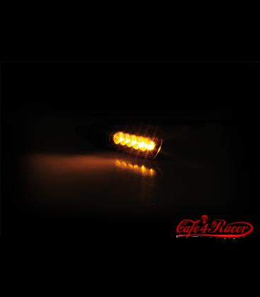 KOSO LED smerovky ELECTRO, čierne oranžové skličko