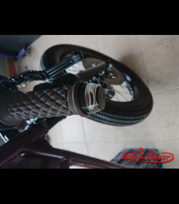 2PCS Motorcycle Handlebar LED Turn Signal Grip Bar End Lights  black