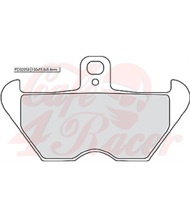 FERODO disc brake pad FDB 2050 P (front, pair for one side)