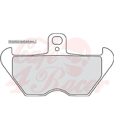 FERODO disc brake pad FDB 2050 P (pair for one side)