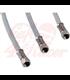 Flexible stainless steel brake line, 55cm