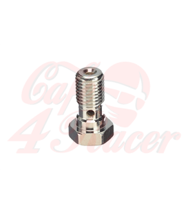 ABM banjo hollow screw Alu M10 x 1,0, silver