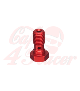 ABM banjo hollow screw Alu M10 x 1,0, red