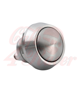 Billet Micro Switch Button - Momentary - M12 - Chrome