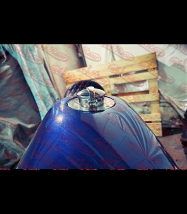 """Monza Fuel Cap 2.5"""" chrome"""