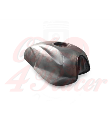 Universal Aftermarket Raw Steel Unpainted 2.3 Gallon Gas Tank