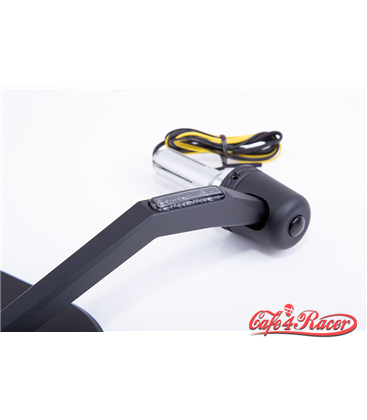 HIGHSIDER bar end mirror CNC VICTORY-X with LED indicator