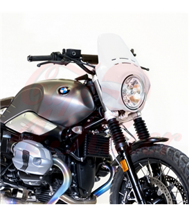 Windshield Fenouil   for  BMW R9T Scrambler / Pure, white