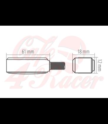 HIGHSIDER CNC LED smerovky  BRONX, červené, tónované skličko
