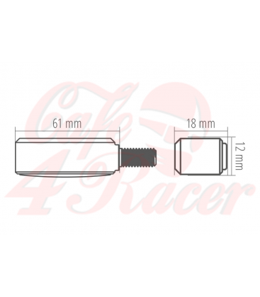 HIGHSIDER CNC LED smerovky  BRONX, čierne, tónované skličko