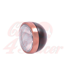 HIGHWAY HAWK 4 ½ inch Spotlight Bates  black / copper trim