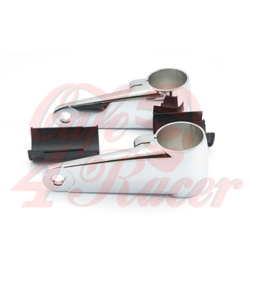 Universal headlight brackets 35/39/41mm chrome