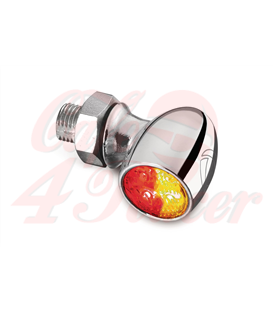 Kellermann Bullet Atto DF, rear / brake light turn signal, chrome, clear glass,
