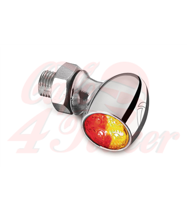 Kellermann Bullet Atto DF, rear / brake light turn signal, black, clear glass,