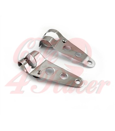 Universal headlight brackets 35-43 mm chrome