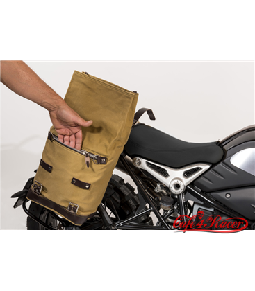 Postranný držiak  s  koženým  kufrom pre BMW  RNineT Series