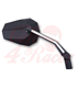 Mirror STEALTH -X3 with LED front position light, black