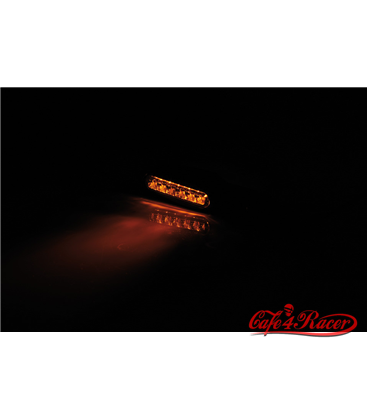 SHIN YO LED turn signal MULTIFACE, red housing, tinted glass, E-marked, pair.