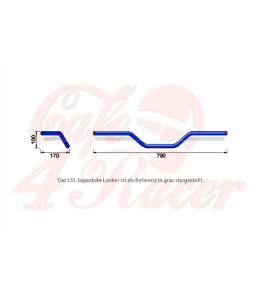 LSL Alu-Handlebar A02,  strieborná