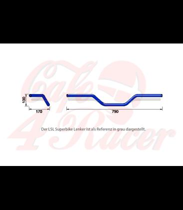 LSL Alu-Handlebar A02,  modrá