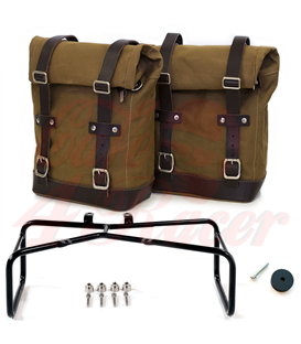 UNIT GARAGE Two Side Panniers Canvas + Double Subframe NineT