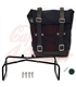 UNIT GARAGE Waxed suede Side Pannier + Double Subframe BMW  RNineT