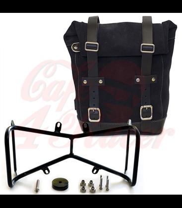 UNIT GARAGE Postranný držiak  s  koženým  kufrom pre BMW  RNineT Series