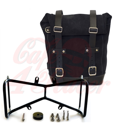 UNIT GARAGE Waxed suede Side Pannier + Symmetrical Double Subframe  BMW  RNineT