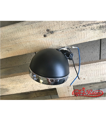HIGHWAY HAWK 4 ½ inch Spotlight Bates  black / chrome